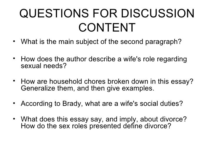 I Want A Wife Essay Examples - Free Research Papers on blogger.com