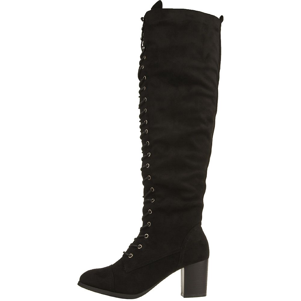 Lace Up Boot Knee. Lace up knee high boots at alannorris.eu